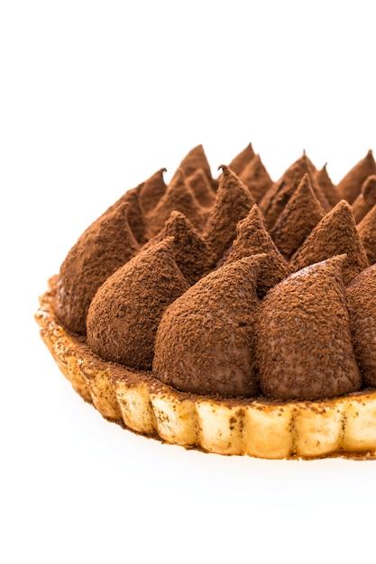Chocolate tart dessert Free Photo