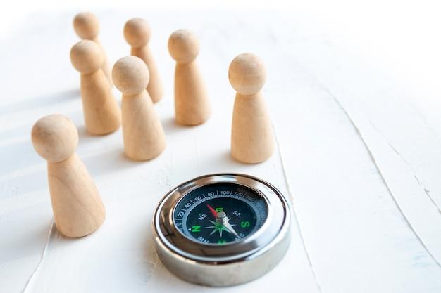 ビジネスの正しい方向を選択することは、従業員の正しい選択です。 Premium写真