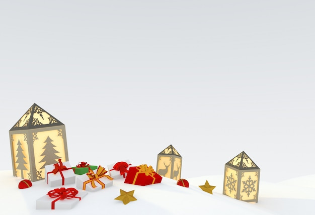 Christmas 3d illustration Premium Photo
