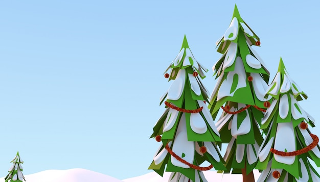 Christmas 3d illustration Premium Photo