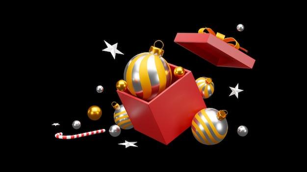 크리스마스와 새 해 복 많이 받으세요 검정색 배경입니다. 클리핑 경로. 프리미엄 사진