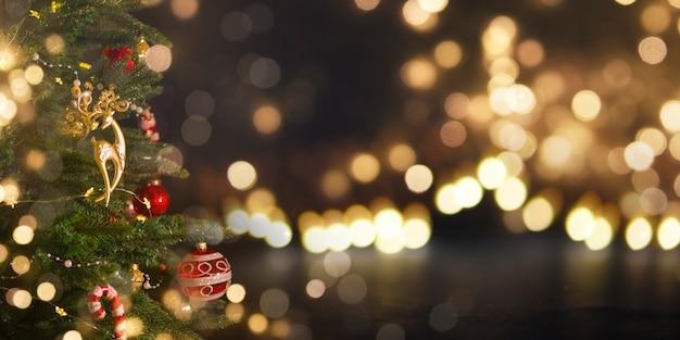 クリスマスと新年の休日の背景。 Premium写真