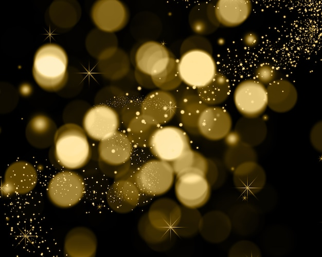 Christmas background of bokeh lights, stars and sparkle lights Free Photo