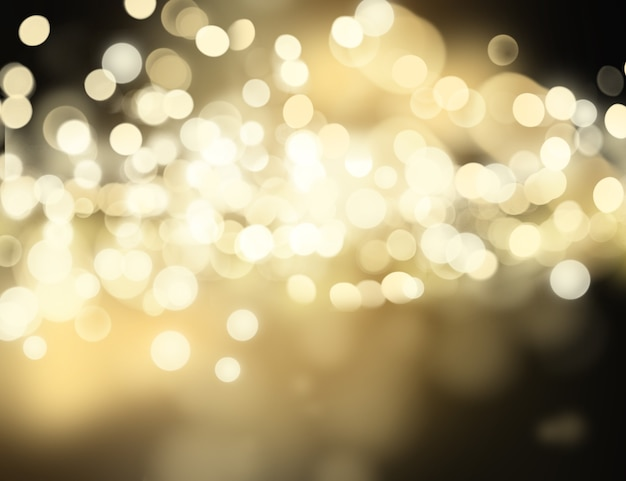 Christmas background of bokhe lights Free Photo
