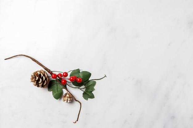 Рождественский фон украшения Premium Фотографии