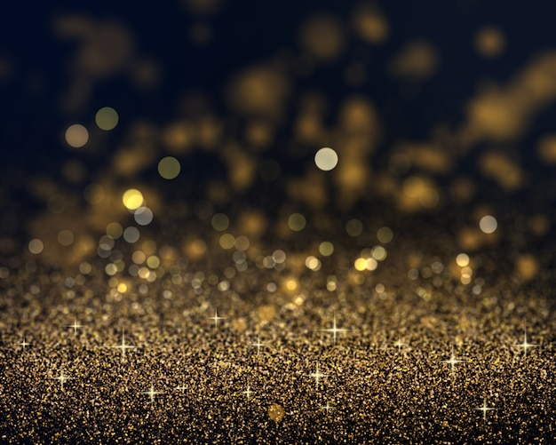 Christmas Background Of Gold Glitter Photo
