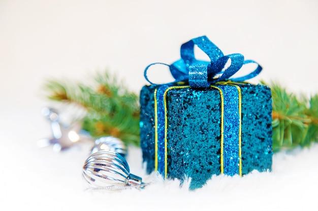 Christmas background. happy new year. selective focus Premium Photo