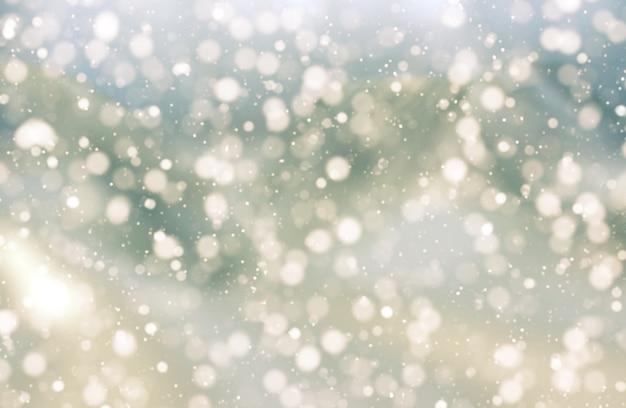 ボケライトのクリスマスの背景 無料写真