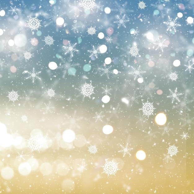 Новогодний фон из снежинок и звезд Бесплатные Фотографии