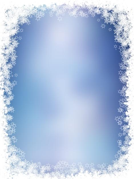 雪片と星のクリスマスの背景 無料写真