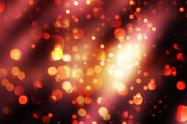 スパークリングボケライトのクリスマスの背景 無料写真