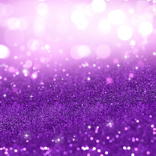 Christmas background of purple glitter Free Photo