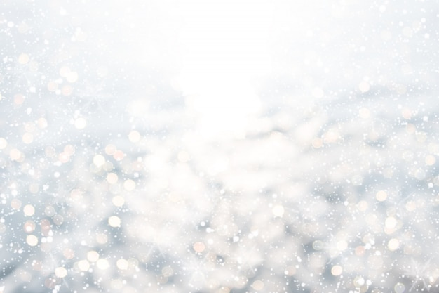 White Glitter Christmas Abstract
