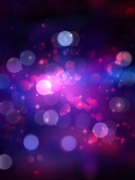 ボケの光と星とクリスマスの背景 無料写真