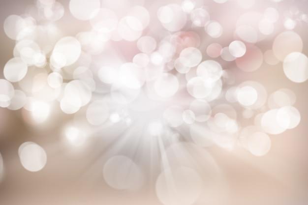 ボケライトデザインのクリスマスの背景 無料写真