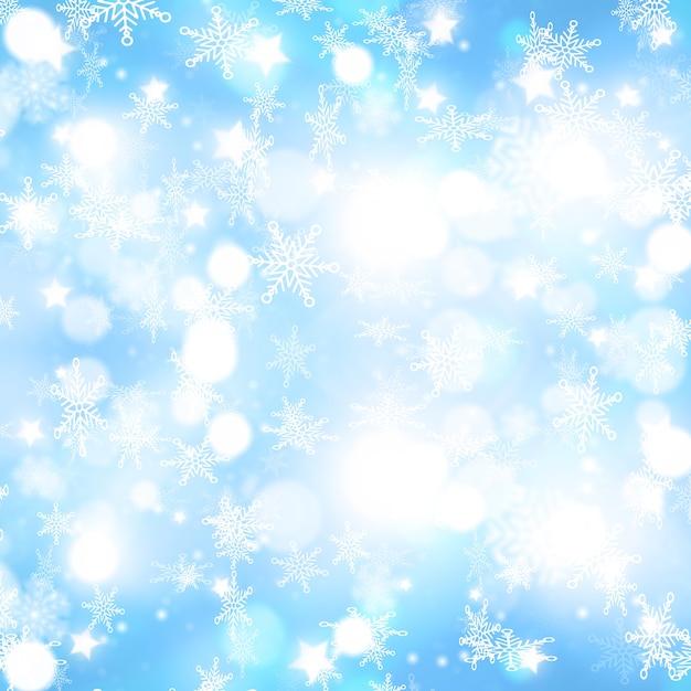 Sfondo di natale con la caduta di fiocchi di neve design Foto Gratuite