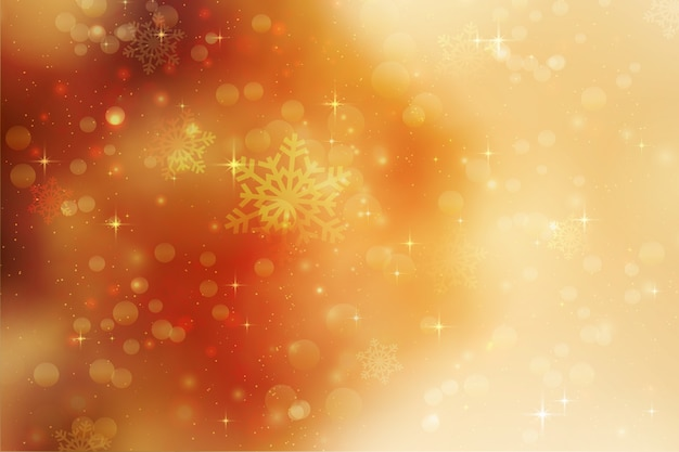 雪と星とクリスマスの背景 無料写真