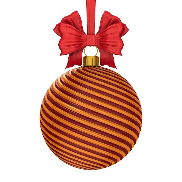 Christmas ball on white background. isolated 3d illustration Premium Photo