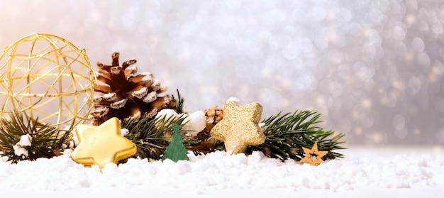 Christmas balls, gifts and decoration Premium Photo