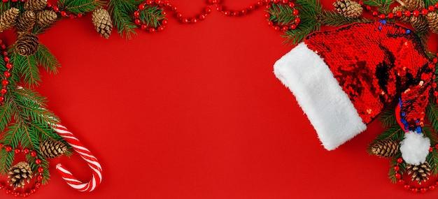 Рождественский фон баннера Premium Фотографии