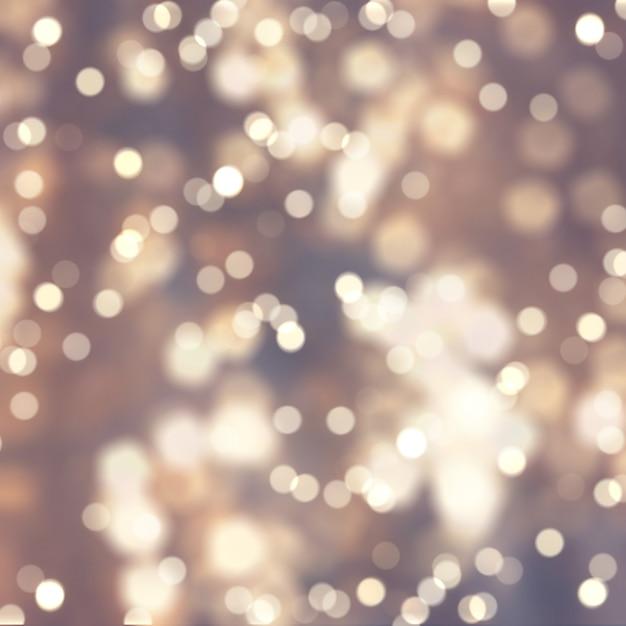 Christmas bokeh lights background Free Photo