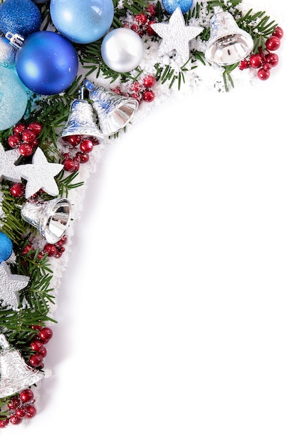 Christmas border with balls Photo   Free Download