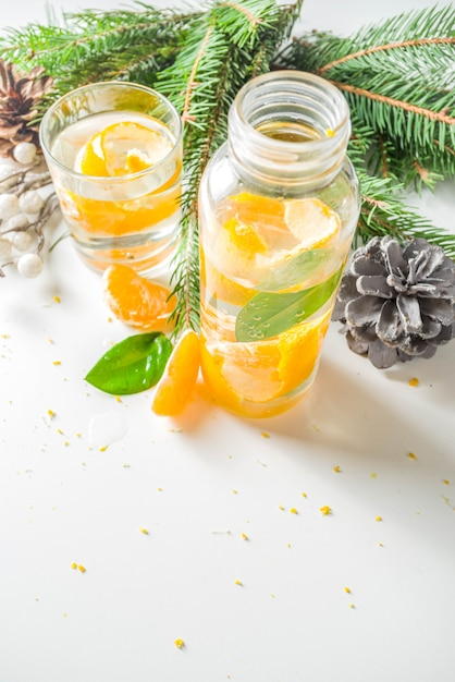 Christmas clementine and ginger gin Premium Photo