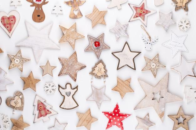 크리스마스 컬렉션, 선물 및 장식 장식품 프리미엄 사진