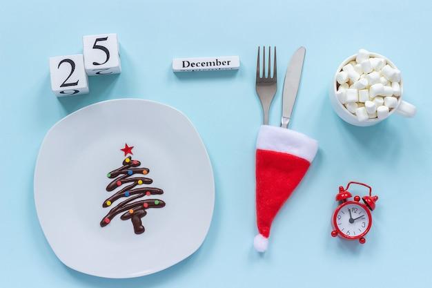 Christmas composition calendar Premium Photo