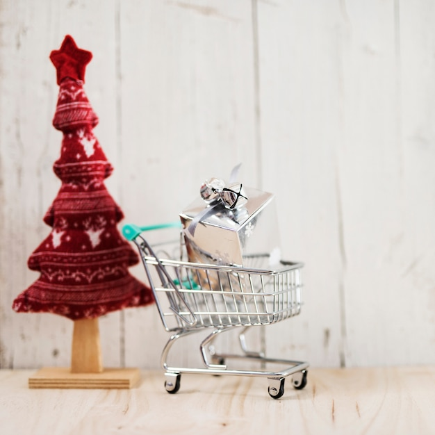 Christmas composition for shopping gifts Free Photo