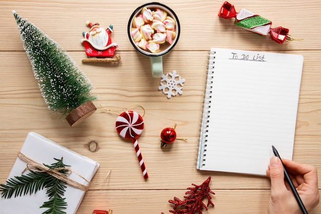 Christmas concept to do list mock-up Free Photo