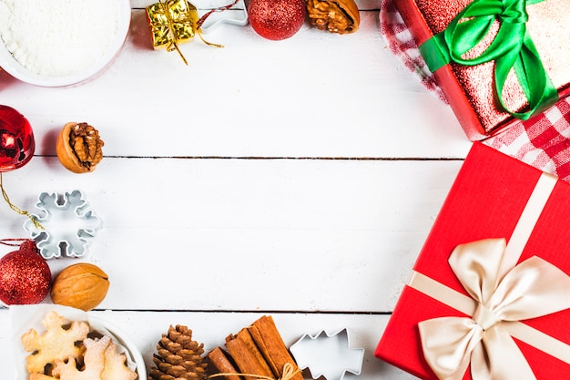 Christmas Cookies Background Photo Premium Download