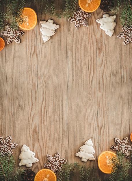 スライスしたオレンジのクリスマスクッキー Premium写真