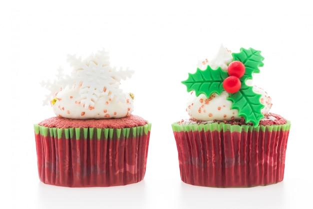 Christmas cupcakes Free Photo