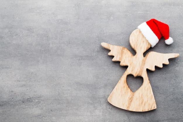 サンタの帽子とクリスマスの装飾 Premium写真