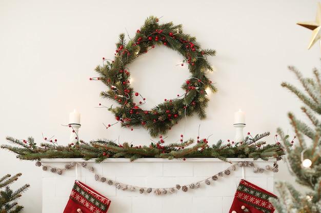집에서 크리스마스 장식 무료 사진