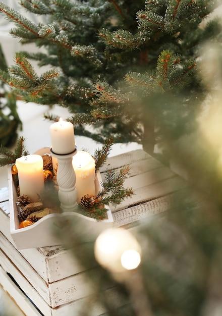 自宅でのクリスマスの装飾 無料写真
