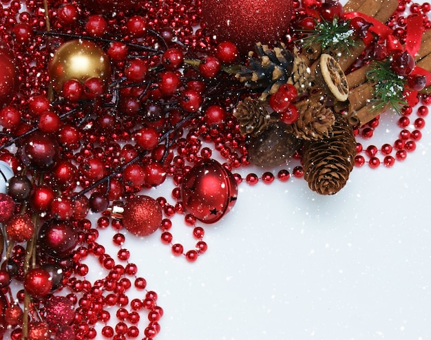 christmas decoration in red color free photo - Christmas Decoration