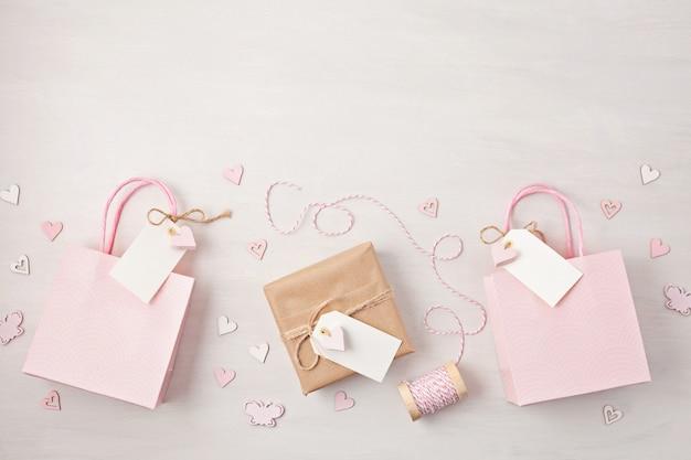 Christmas decoration in pink pastel colors. Premium Photo