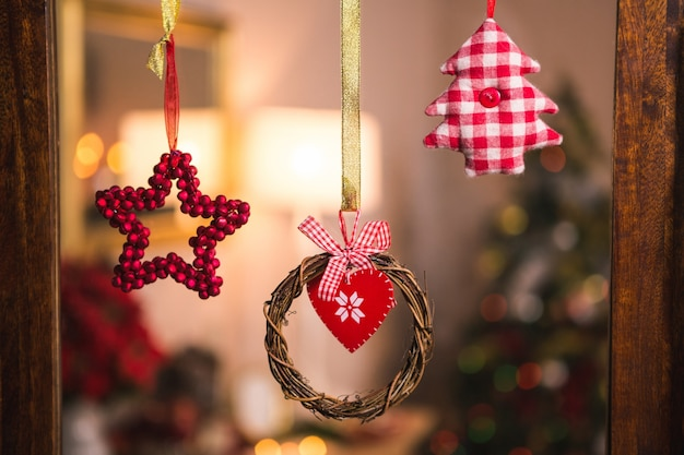 Christmas decoration with circle shape photo free download