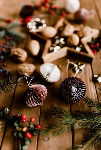 Christmas decorations and trinkets Free Photo