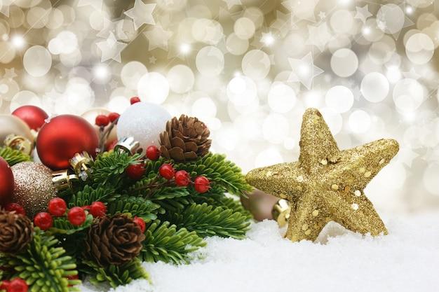 christmas decorations background premium photo