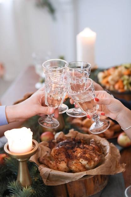 Cena di natale in famiglia Foto Gratuite