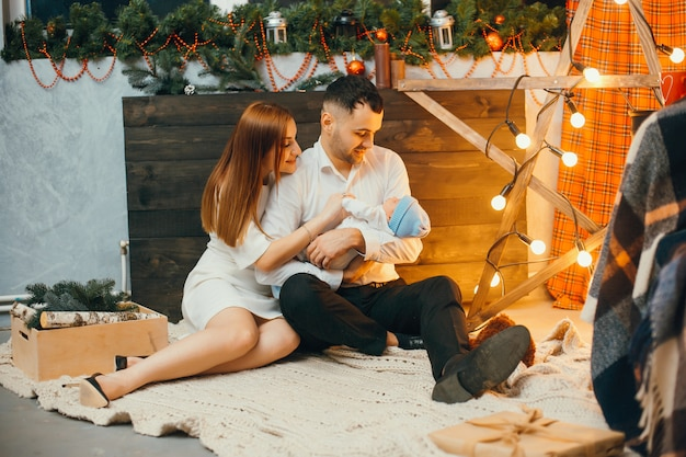 Christmas family Free Photo