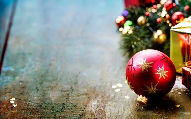 Christmas festive decoration Premium Photo