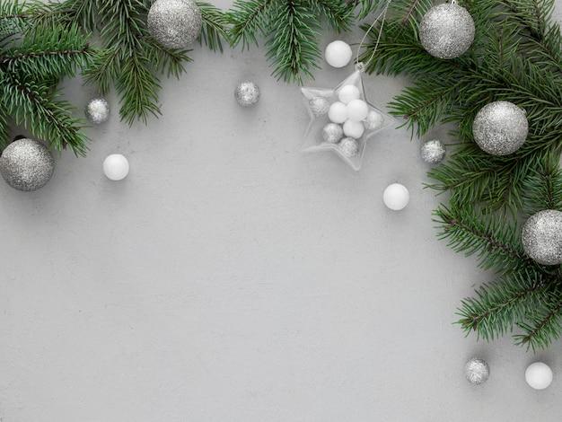 Рождественская еловая ветка с копией пространства Бесплатные Фотографии