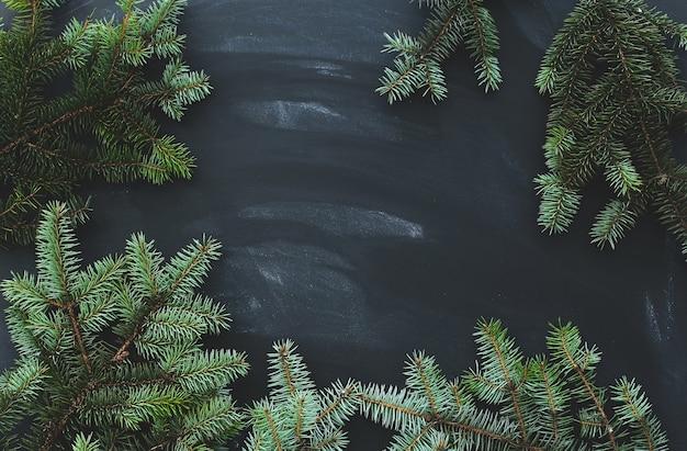 Рождественская ель на темной поверхности Бесплатные Фотографии