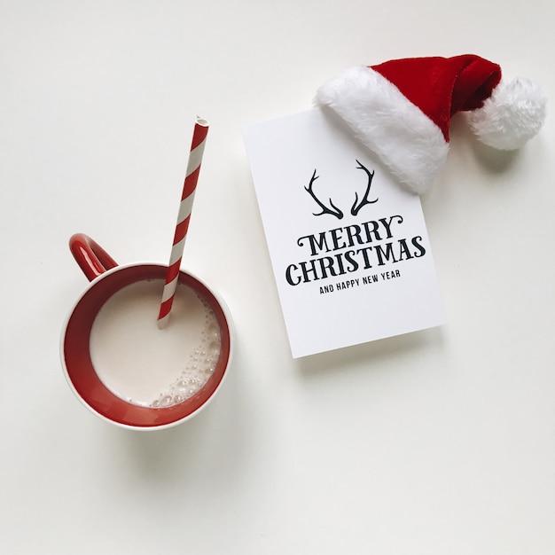 クリスマスフラットレイ Premium写真