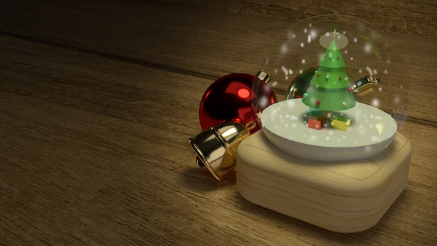 Christmas glass ball for celebration christmas Premium Photo