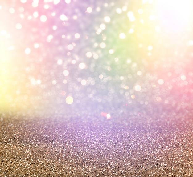 Christmas glitter and bokeh lights background Free Photo
